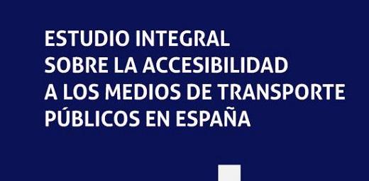 portada Estudio integral sobre la accesibilidad a los medios de transporte públicos en España