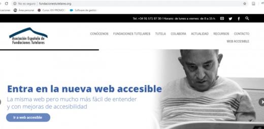 banner de la web aeft sobre su nueva web accesible