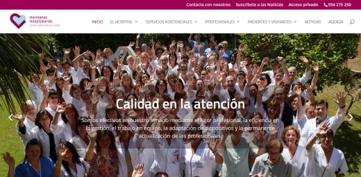 portada de la web hospital mare de deu creadores de la app para mejorar