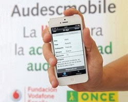 App AudescMobile instalada en un móvil con audiodescripción