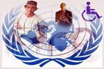 Logotipo de las Naciones Unidas para la Convención Internacional de las personas con discapacidad