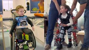 El niño Álvaro de cinco años, con Atrofia Muscular Espinal y que ha colaborado en una investigación en Dubái