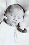 Un bebé con Síndrome de West, durmiendo
