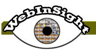 Logotipo con el dibujo de un ojo y el titular Webinsight, del producto de apoyo Webanywhere