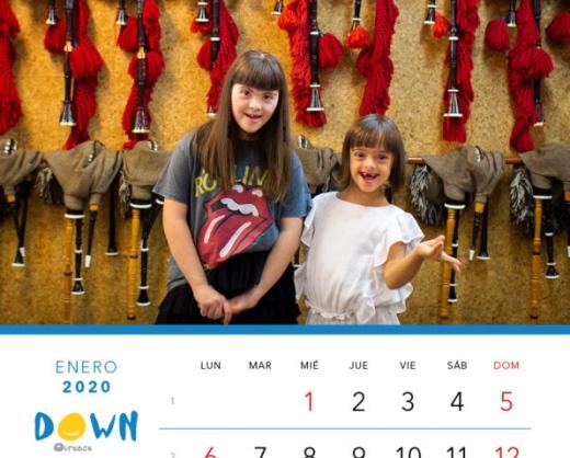 jóvenes con síndrome de down calendario down galicia enero