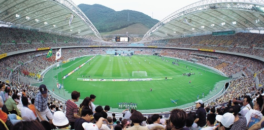 vista de un campo de fútbol