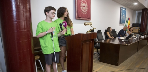 Imagen de los alumnos del Programa Campus Inclusivos en la Universidad de Málaga