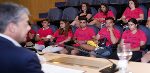 Imagen de los alumnos del Programa Campus Inclusivos, Campus sin Límites