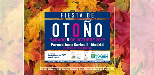 Cartel Fiesta de otoño del Deporte Adaptado