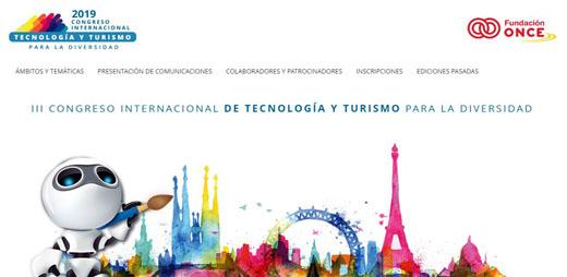 Banner del III Congreso Internacional de Tecnología y Turismo para la Diversidad. Hoy se inaugura el Congreso.