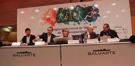 Momento de la apertura del ongreso Derecho y Discapacidad