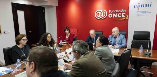 momento de la reunión sobre inclusión laboral y empleo público