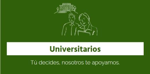cartel give me five universitarios tu decides, nosotros te apoyamos
