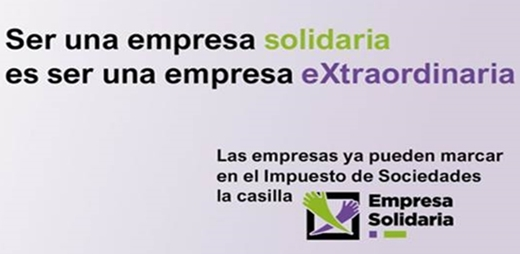 Imagen promocional de la X Solidaria en el Impuesto de Sociedades