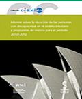 Portada del libro:Informe de la situación de las personas con discapacidad 2010-2012, sobre Convención Internacional de Derechos