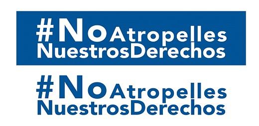 cartel con la etiqueta no atropelles nuestros derechos patinetes