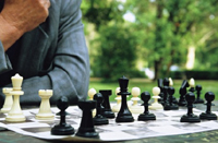 Deportes adaptados: Partida de ajedrez