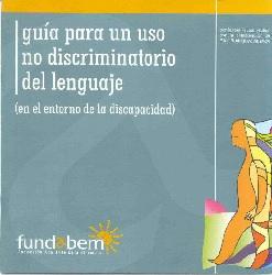 Portada Guía Fundabem. Guía para un uso no discriminatorio del lenguaje