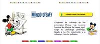 Juegos educativos, detalle del juego de Colorear Disney