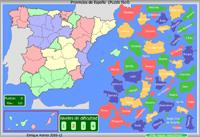 Juegos educativos, detalle del juego sobre la Provincias de España