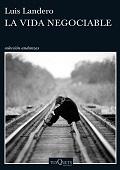 Portada del libro, un hombre sentado en una vías de un tren