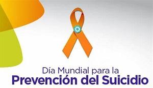 lazo naranja cartel día mundial para la prevención del suicidio
