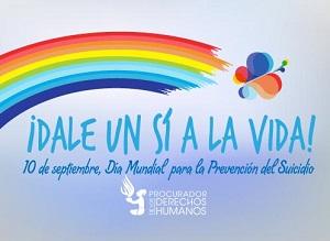 arcoiris y mariposa dale un sí a la vida, día mundial para la prevención del suicidio