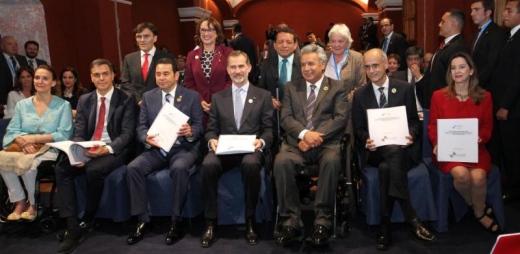 representantes de diversos países en la prsentación del programa iberoamericano de discapacidad