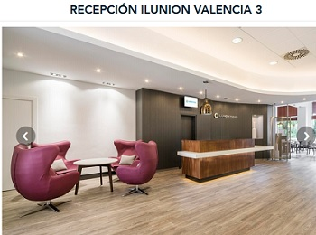 Recepción del Hotel ILUNION Valencia