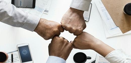 seminario ODS,Imagen de manos juntándose