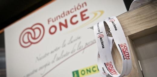 Fotografía del stand de Fundación ONCE en el South Summit 2019