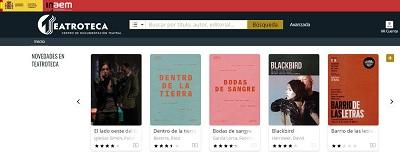 web de Teatroteca con novedades