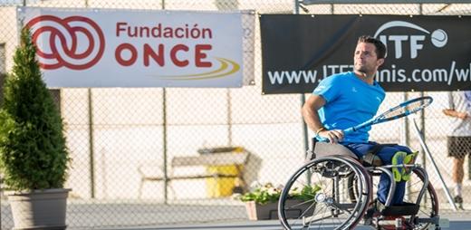 Kike Siscar en el V Open Internacional Fundación ONCE de tenis en silla de ruedas