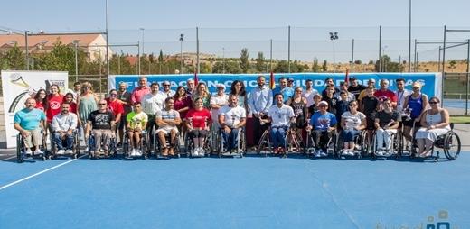Los jugadores en el V Open Internacional Fundación ONCE de tenis en silla de ruedas